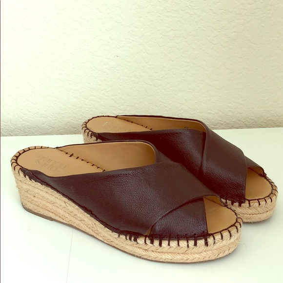 4cef2d41a99 Franco Sarto Polina Espadrille Wedge Slide Sandals
